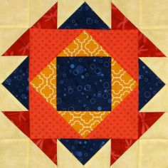 Aztec Jewel Quilt Block
