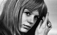 """One of the most well-known portraits of Marianne Faithfull shot by John 'Hoppy' Hopkins in 1966. He was commissioned by """"Melody Maker"""" to take a series of photos for their magazine"""