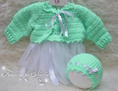 Check out this item in my Etsy shop https://www.etsy.com/listing/542466679/crochet-newborn-0-3m-baby-dress-hat