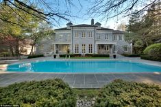 Gorgeous grounds: The massive swimming pool was not featured prominently in the movie, but...