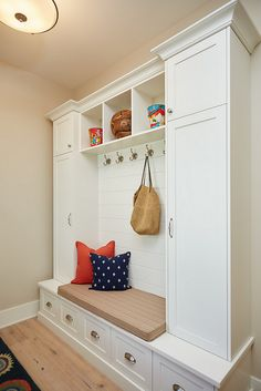 Cabinet paint color is White Dove by Benjamin Moore. Walls are Benjamin Moore Edgecomb Gray.