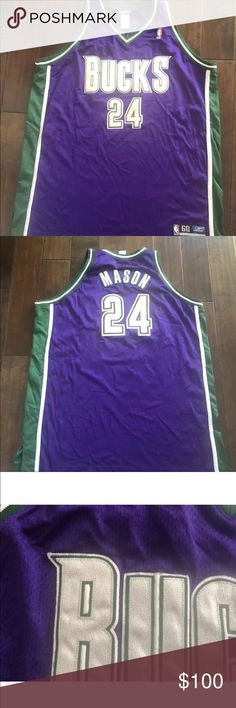 92ed6d0d2d395 Desmond Mason Milwaukee Bucks Reebok Jersey 4XL Desmond Mason  24 Milwaukee  Bucks Authentic Reebok Stitched