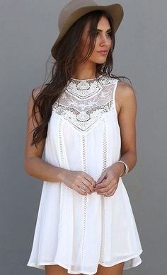 Floryday, white dress