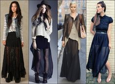 useful fashion guides and tips in wearing long skirts