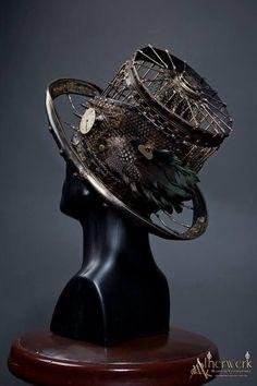 chapeau cage steampunk