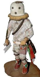 Eototo is chief o' all kachinas, knows all ceremonies. He is spiritual counterpart o' village chief and is called 'Father' o' all kachinas. He controls seasons and is sometimes called husband o' Hahai-i Wuhti