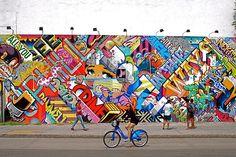 Revok and Pose Mural at Bowery and Houston Graffiti Wall - NYC ♥ NYC