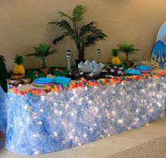 luau party table image
