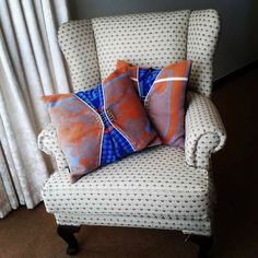 Scatter cushions made from the Basotho blankets. By Thabo Makhetha TmakCC a Lesotho born Fashion designer based in Port Elizabeth,South Africa Scatter Cushions, Throw Pillows, Port Elizabeth South Africa, African Design, Blankets, Groot, Bed, Window, Fashion Design