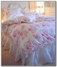 Simply Shabby Chic Bedding White #shabbychicbedroomspink