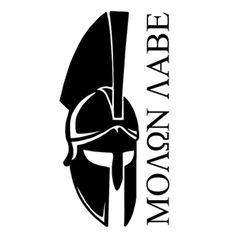 Tall Spartan Helmet/Molon Labe 2