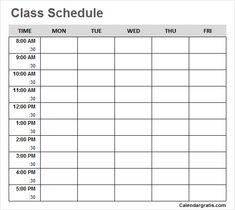Free blank printable class schedule template for preschool kids, middile school, college students. Get weekly class timetable hourly planner for teachers. Class Schedule College, Classroom Schedule, Kids Schedule, Weekly Schedule, Study Timetable Template, Study Schedule Template, Planner Template, School Schedule Printable, Schedule Calendar