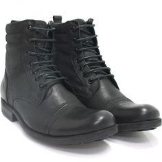 Bota Zariff Shoes Coturno Preta   Zariff