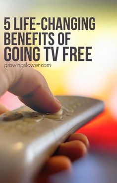 Could you give up TV? Could your kids? Here are 5 big ways going TV will change your life. It's what happens when you kick that big black box out of the living room and take back your home and your family. If you've been toying with the idea of moving toward a more screen free lifestyle, read this.