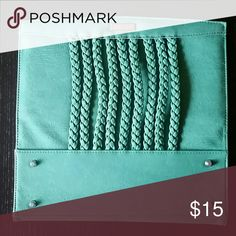 Miche Classic Trisha Shell Teal green with braided trim.  Coordinates with teal green straps Miche Bags Satchels