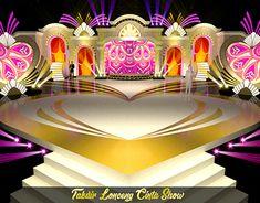 SET TAKDIR LONCENG CINTA SHOW ANTV Concert Stage Design, Wedding Stage Design, Catwalk Design, Tv Set Design, Dream Shower, Exhibition Booth Design, Theatre Stage, Stage Set, Wedding Reception Decorations