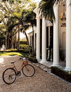 Traditional Exterior by Bunny Williams Inc. and Thomas M. Kirchhoff in Palm Beach, Florida