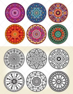 Indian Style Floral Ornament — Vector EPS #style #henna • Available here → https://graphicriver.net/item/indian-style-floral-ornament-/338914?ref=pxcr