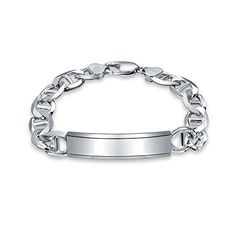 Men's Jewelry Bling Jewelry 925 Silver Mens Marina Chain ID Bracelet 250 Gauge 9in Italy >>> Be sure to check out this awesome product.