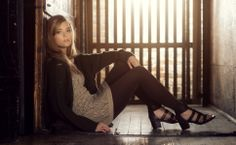 Fleur is cozy and cute in her seamless lace tunic and high waist bamboo leggings