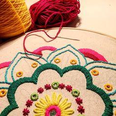 Mandala en proceso... #mandala #bordado