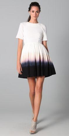 Ellery The Ventures Dip Dye Dress thestylecure.com