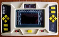 Electronic Football Sears Condition: Used - Good - Collectible. Item powers on. Case is yellowed due to aging. Retro Video Games, Vintage Toys, Hold On, Football, Hands, Electronics, Fun, Soccer, Old Fashioned Toys