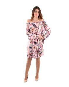 Robe à fleurs col bardot