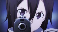 Gun Gale Online Kirito Shooting