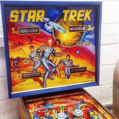 An irresistible pinball machine for the Trekkies out there - sitting in our showroom right now.