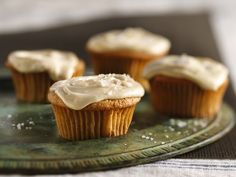 Spiced Apple Cupcakes w/ Salted Caramel Frosting