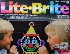 """litebrite,,Lite-Brite: Making things with light… lightbulb not included.  Were you a """"follow the dots"""" or a """"create your own picture"""" kind of kid?"""