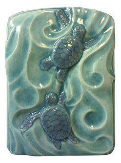 Las tortugas marinas gemelos 4 x 5 pulgadas por MedicineBluffStudio