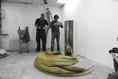 Jonty Hurwitz - SA artist. Anamorphic Sculptures Reflection Optical Illusion Sculpture Mirror Art Frog
