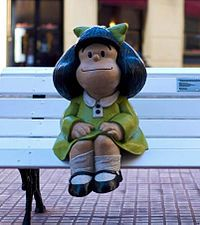 Mafalda - Wikipedia -Mafalda is an Argentine comic strip written and drawn by cartoonist Joaquín Salvador Lavado, better known by his pen name Quino. The strip features a 6-year-old girl named Mafalda, who reflects the Argentinian middle class and progressive youth, is concerned about humanity and world peace, and has serious attitude problems but in an innocent manner.