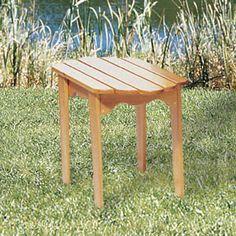Andirondack Side Table DIY Woodcraft Pattern #204 - Adirondack side table it's…