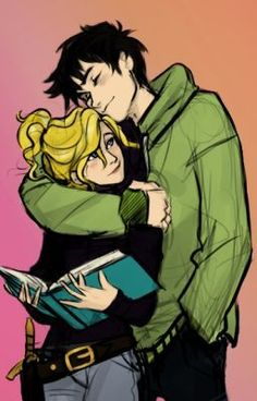 DAILY PERCABETH AWESOMENESS BUT HAS A LOT OF FEELS pin! This drawing is so cute...