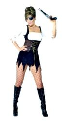 Pirate Sexy Costume Size 8-10