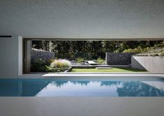 Underground swimming pool completed in the grounds of an Italian home.