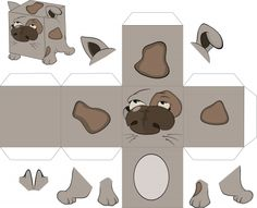 Paper Crafts – Foldable Box Dog  #summer #fun #crafts #3D #paper #dolls