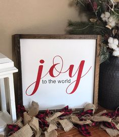 Joy to the World Sign – Christmas Sign – Joy Sign – Rustic Home Decor – Rustic Wooden Sign – Housewarming – Hand Painted Sign – Wood Sign – In-house Factory Christmas Clock, Christmas Signs Wood, Wooden Christmas Trees, Holiday Signs, Christmas Time, Christmas Wreaths, Christmas Crafts, Christmas Decorations, Christmas Ideas