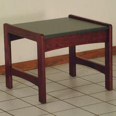 Wooden Mallet Dakota Wave End Table Finish: Mahogany
