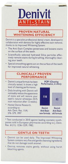 Denivit Anti-Stain Especialista Professional clareamento dental 50ml (Pack of 6): Amazon.co.uk: Health & Personal Care