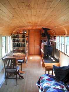Tiny House Bus Living Conversion Ideas (23)