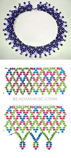Free pattern for necklace Iren Beaded Flowers Patterns, Beaded Necklace Patterns, Beading Patterns Free, Beading Tutorials, Free Pattern, Bracelet Patterns, Seed Bead Jewelry, Bead Jewellery, Jewelry Making Beads