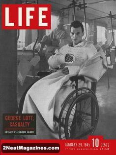 1945 Life Magazine Cover original Antique January 29 1945 cover only of George Lott Casualty News Magazines, Vintage Magazines, Vintage Ads, Vintage Antiques, Look Magazine, Time Magazine, Magazine Covers, Magazine Rack, Life Cover