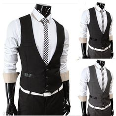 Top Design Luxury Mens Fitted Formal Wedding Suits Tuxedo Dress Vests Waistcoat #Unbranded