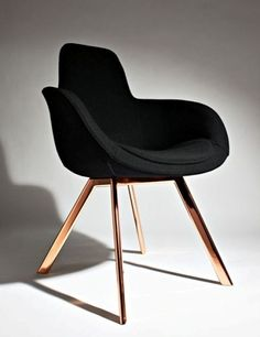 sombreboite:  Scoop High with copper legs by Tom Dixon                                                                                                                                                                                 Plus