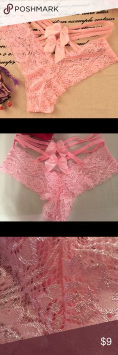 Light Pink Lace Pantie I am selling these light pink lace panties (new never worn) Intimates & Sleepwear Panties