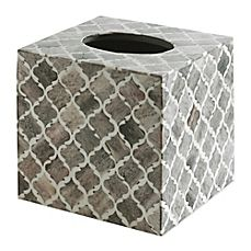 image of Kassatex Marrakesh Real Bone Boutique Tissue Box Cover